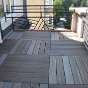 11. Après - Terrasse avec rehaussement balustrade et caillebotis sur plots