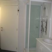12. Après - Sous-sol: Installation réduit chaudière  au fond et Douche + lavabo