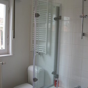3. After with towels dryer and glass for shower